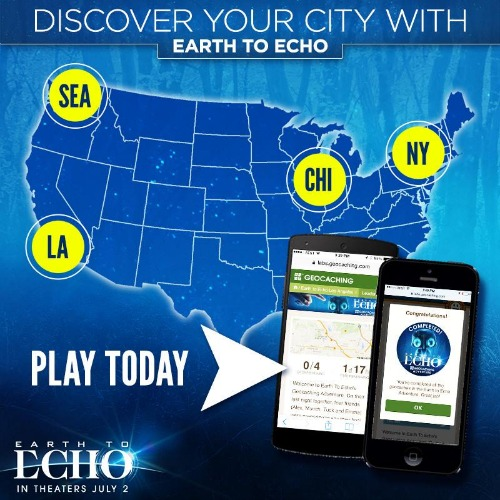 Earth To Echo Geocache Adventure