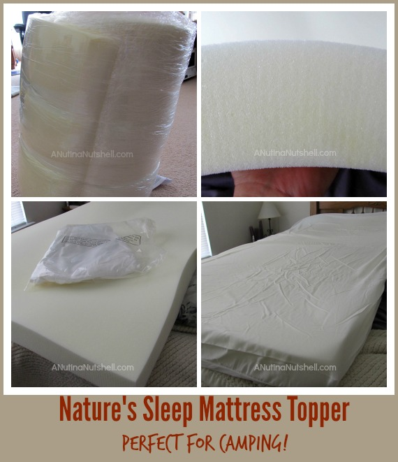 Nature's Sleep Mattress Topper - perfect for camping