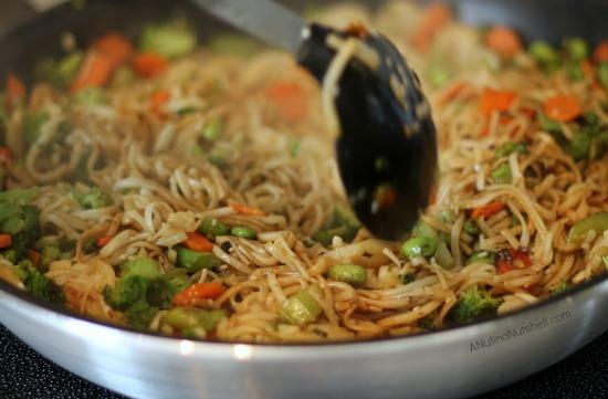making asian pan noodles
