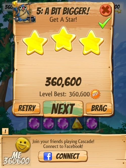 Cascade screenshot - 3 stars