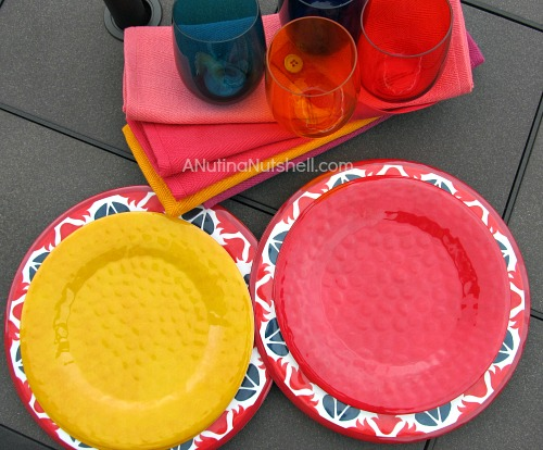 Kohl's Outdoor - melamine plates, glasses, placemats