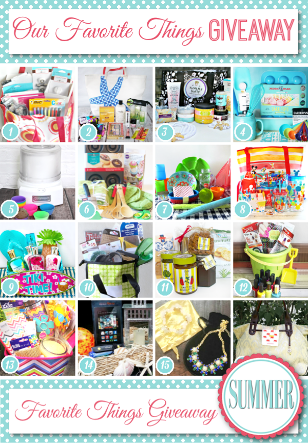 Our Favorite Things - SUMMER GIVEAWAY