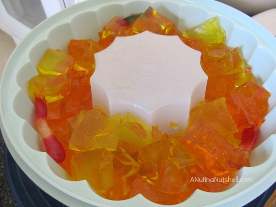 layer JELL-O squares in mold
