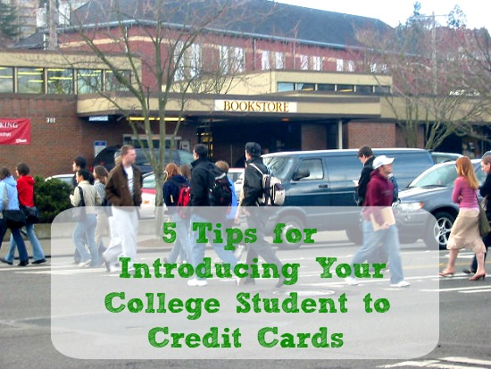 5 tips for introducing your college student to credit cards