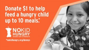 Denny's NoKidHungry campaign