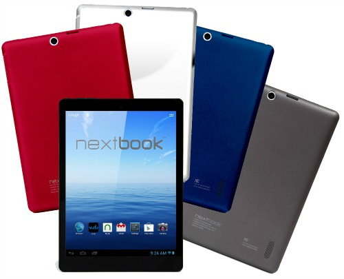Nextbook 8 Android tablet - 4 colors