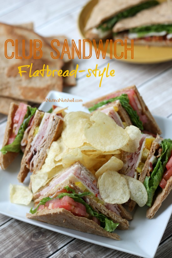 Club sandwich flatbread-style