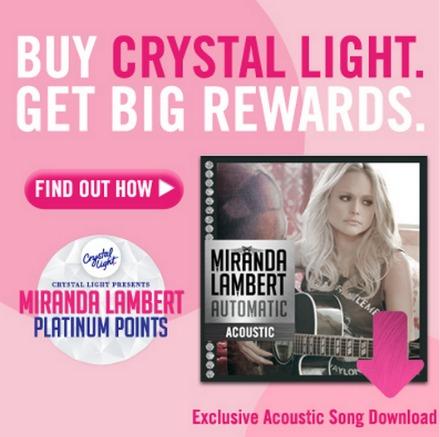 Crystal Light Miranda Lambert Rewards
