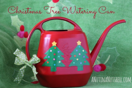 Christmas Tree Watering Can Craft