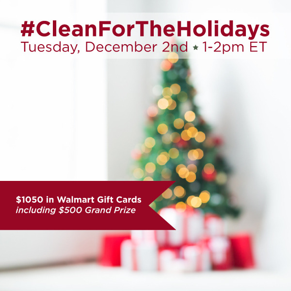 #CleanForTheHolidays-Twitter-Party-12-2