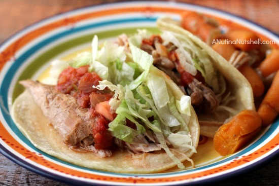 Slow-cooked Mexican Pork Roast tacos