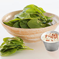 Spinach Salad with Creamy Blue Cheese dressing