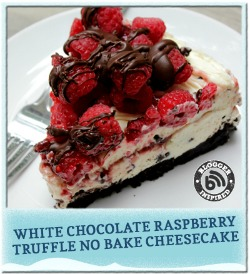 Whie Chocolate Raspberry Truffle No Bake Cheesecake_Kraft Foods Hub_Walmart