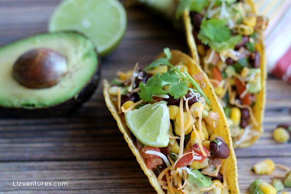 Chicken Tacos with Avocado Corn Salsa recipe