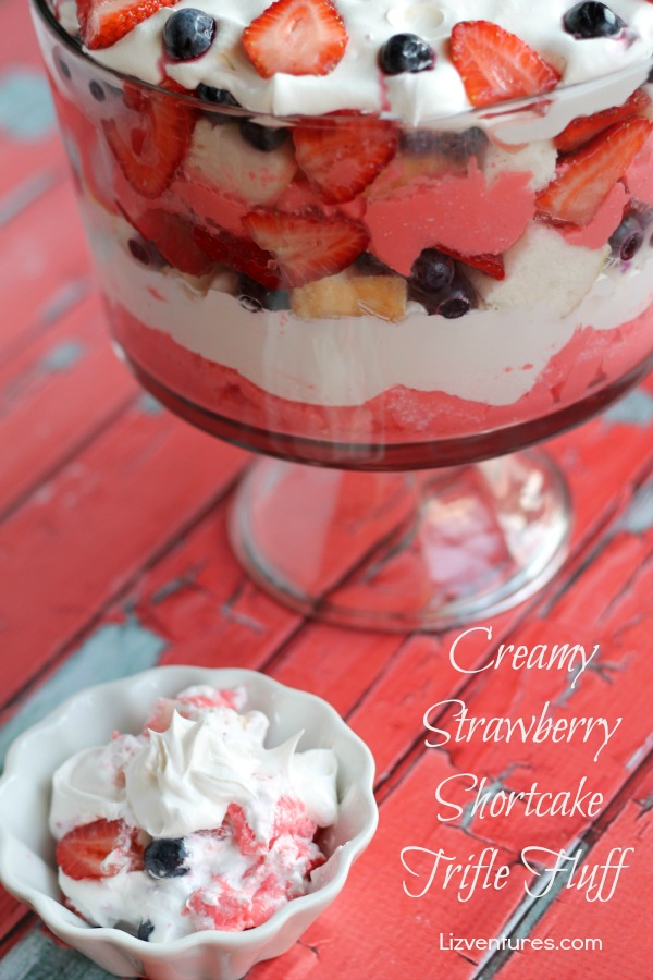 Creamy Strawberry Shortcake Trifle Fluff