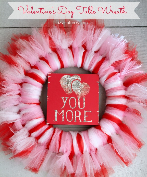 How to Make a Tulle Wreath - Valentine's Day craft