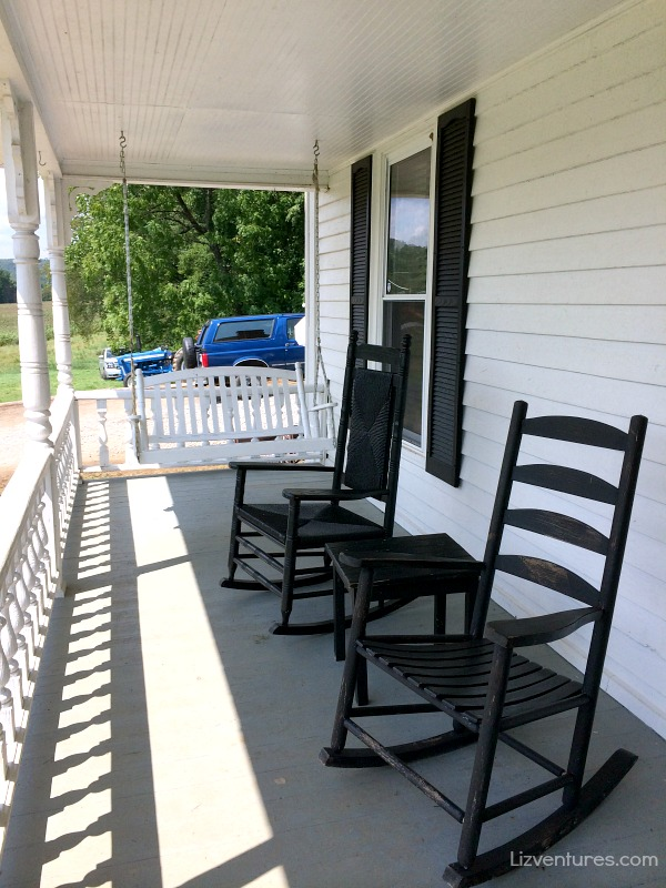 front porch of farmhouse - set of The Longest Ride