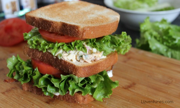 ham and egg salad sandwich