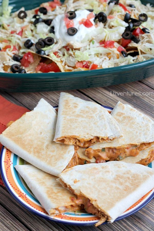 Cowboy Quesadillas and Amazing Nachos