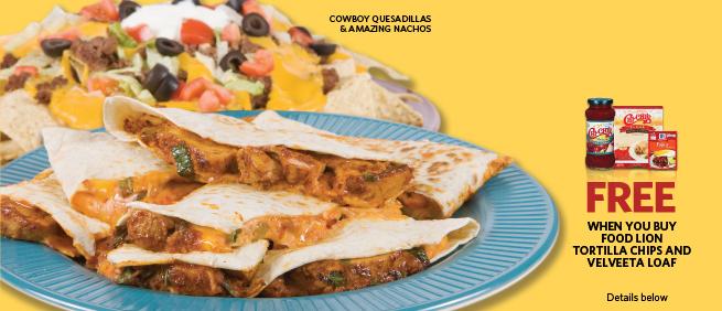 Food Lion Dish It Up Cowboy Quesadillas - Amazing Nachos