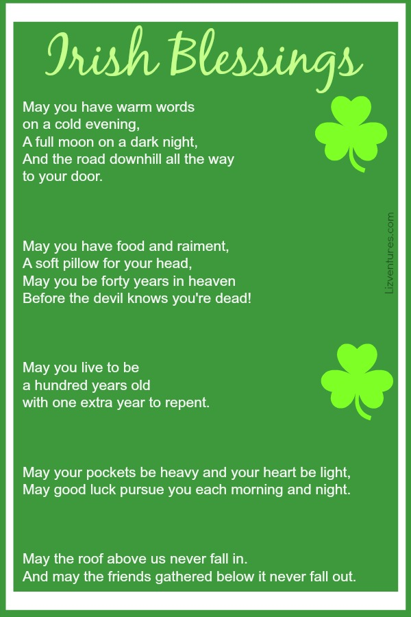 photograph about Printable Irish Blessing called Irish sayings blessings and proverbs