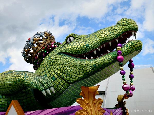 King Gator Float Mardi Gras 2015 Universal Studios Orlando
