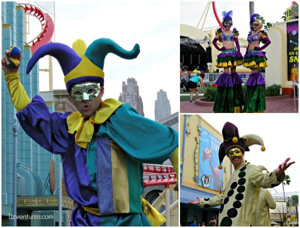 Mardi Gras Universal Studios Orlando street performers