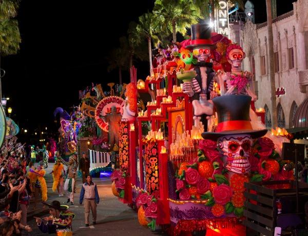 Mexican Day of the Dead Float Mardi Gras Universal Studios Orlando