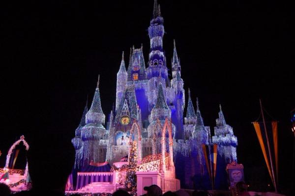 Orlando- Magic Kingdom in lights