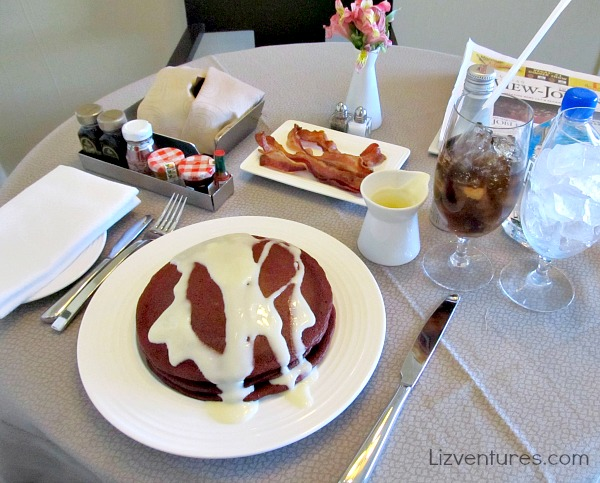 Red Velvet Pancakes - ARIA Resort and Casino