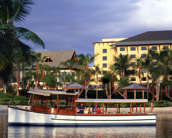 Water taxi at Universal Studios Orlando Loews Pacific Resort
