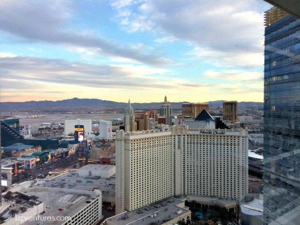 city view from ARIA Las Vegas