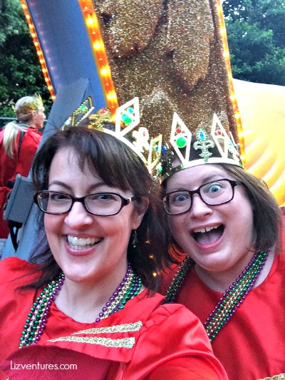 me and Angela - Mardi Gras float