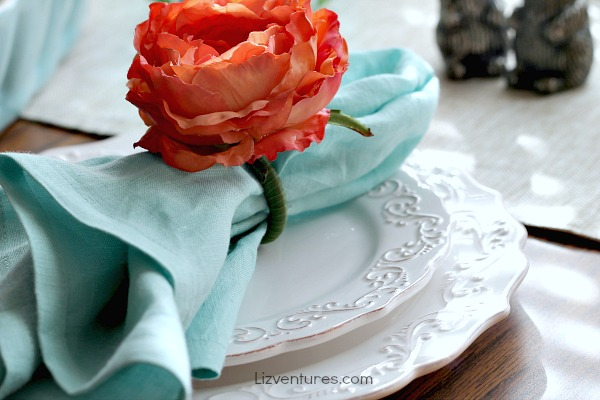 time saving Easter dinner ideas - table decor