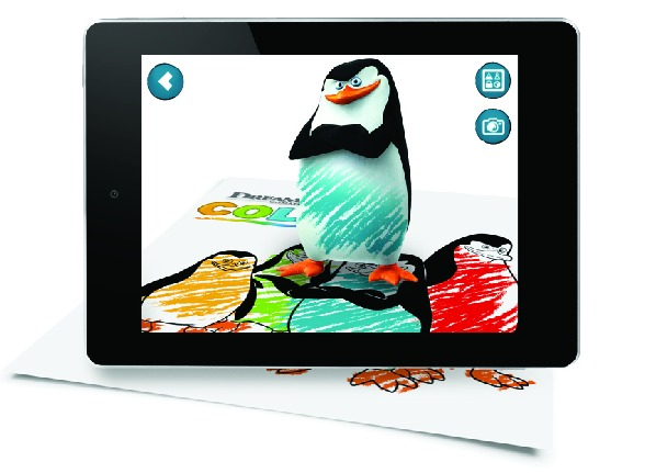 Denny's Diner Penguins of Madagascar COLOR app