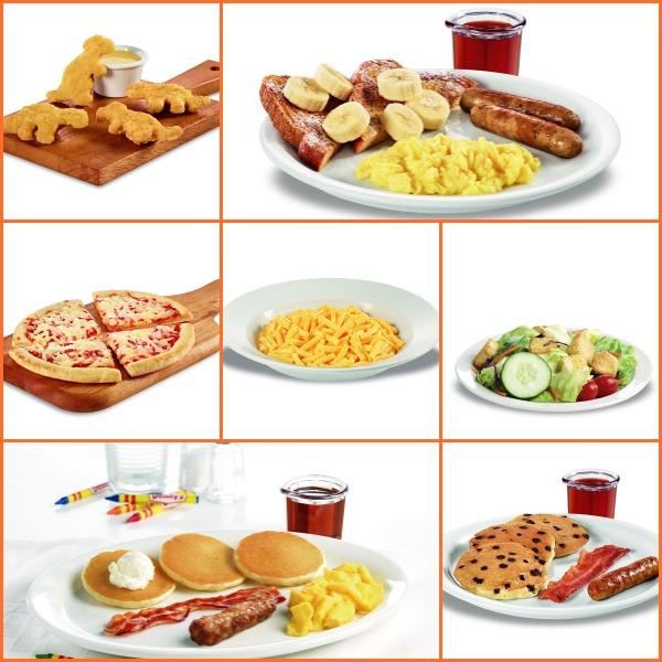 Denny's Diner kids menu