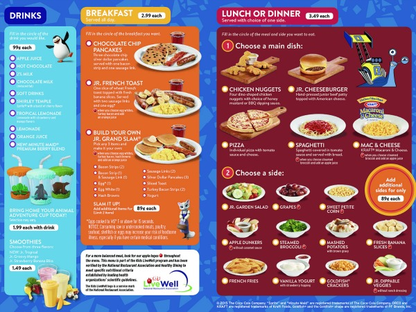 DreamWorks_Kids_Menu at Denny's Diner