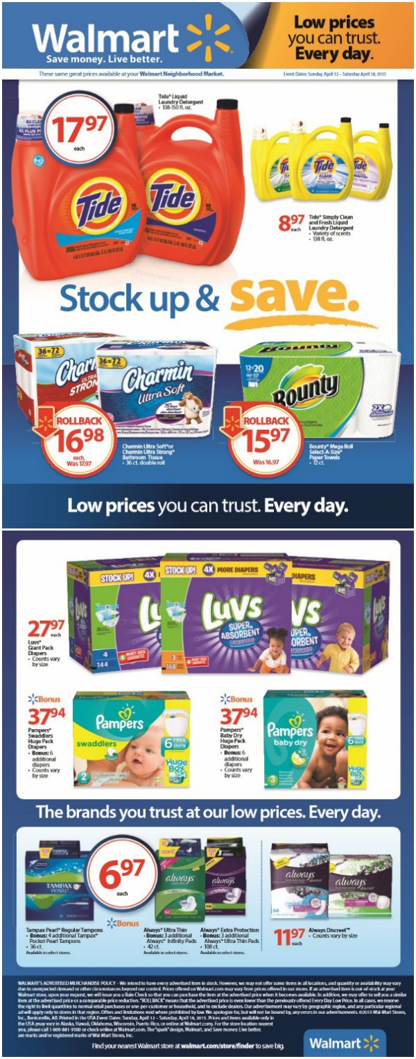 PG Walmart Stock Up and Save
