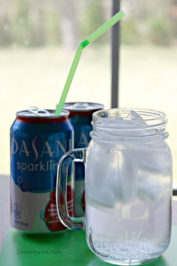 new DASANI Sparkling water black cherry