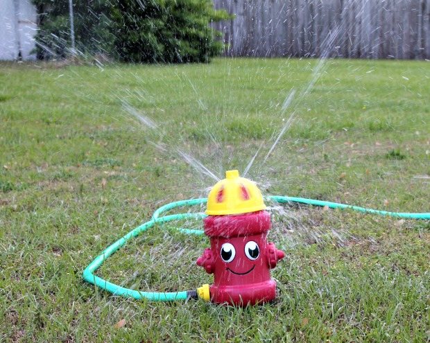 silly spray fire hydrant sprinkler toy at Family Dollar