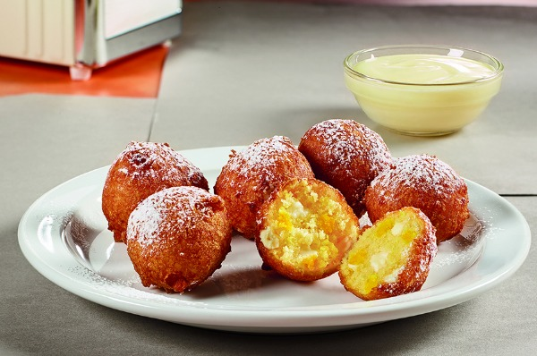Denny's with a Twist - Pineapple Pancake Puppies_background