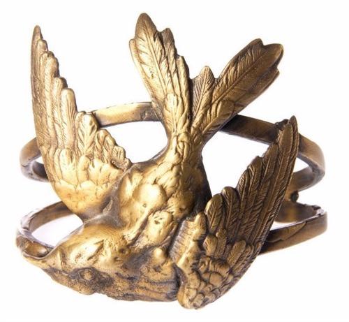 Laurier Blanc Hummingbird Cuff Bracelet