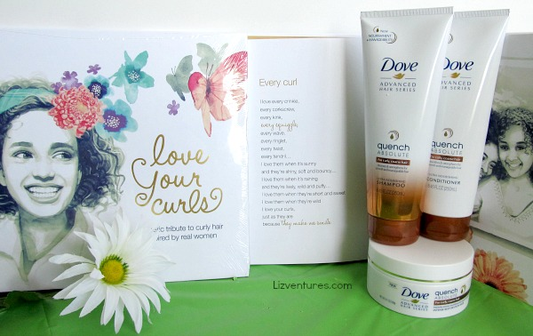 Love Your Curls book - Dove Quench