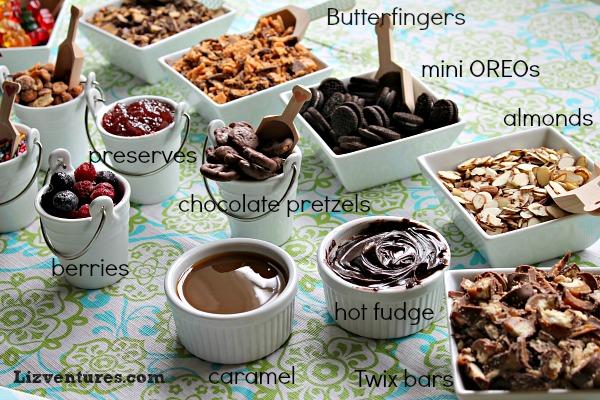 ice cream sundae bar topping ideas