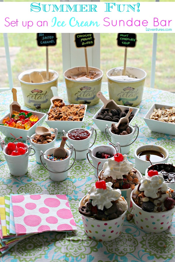 set up an ice cream sundae bar