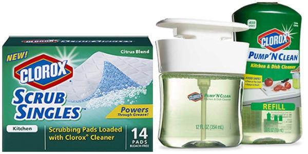 Clorox Scrub Singles - Clorox Pump 'N Clean