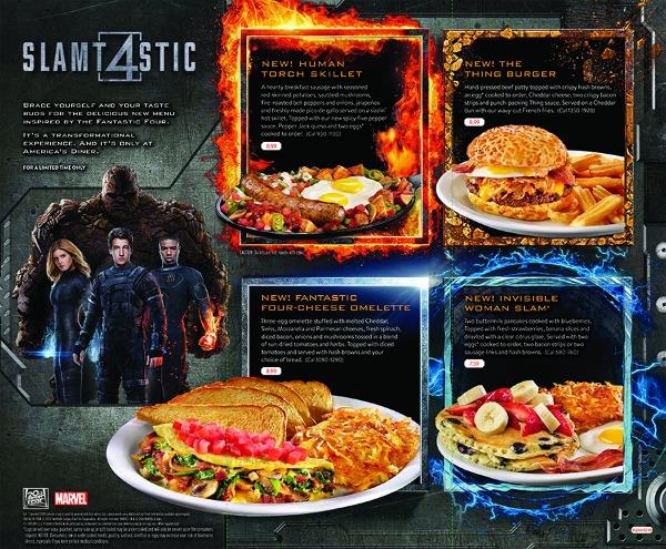 Denny's Fantastic Four menu - Slamtastic 4 Menu