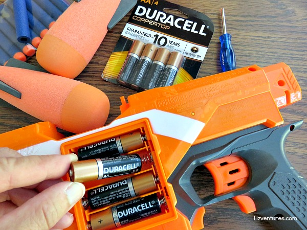 Duracell batteries - Nerf toys