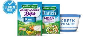 Hidden Valley Ranch Greek yogurt mixes
