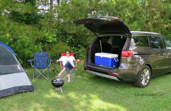 camping with 2015 Kia Sedona